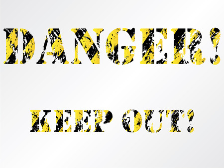 Grunge danger background Stock Vector - 6655484