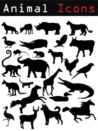 silueta mono: Siluetas de animales