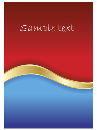 Red & blue background  Vector