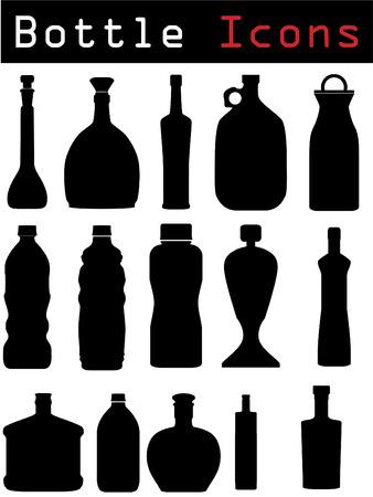 alcoholismo: Iconos de la botella