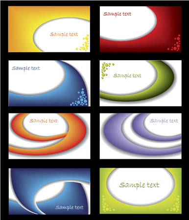 cool colors: Business cards with cool colors