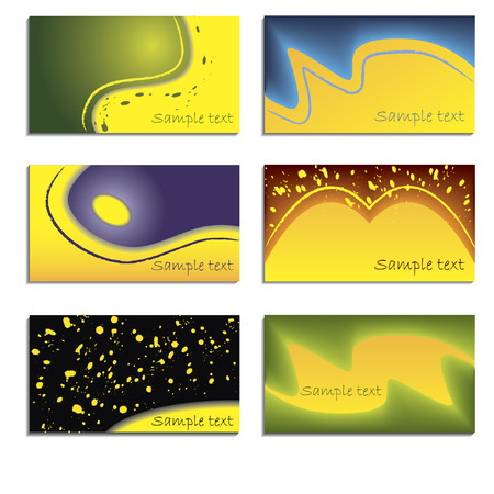 6 pack business cards Vector