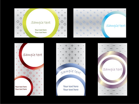 Cool shapes business card set 2 Vector