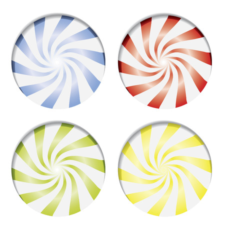 peppermint candy: Various candies  Illustration