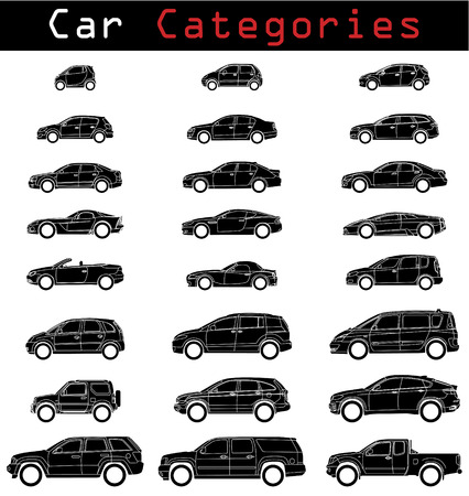 Car blueprints by category  Vector