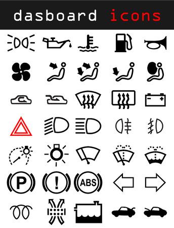 scheinwerfer: Dashboard-Ikonen  Illustration