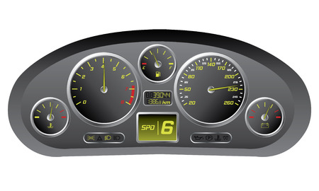 Sports car dashboard  Vector