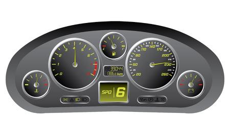car dashboard: Sports car dashboard