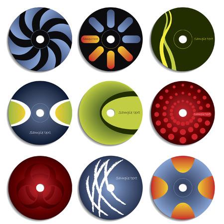 cd label: CD & DVD label design Illustration