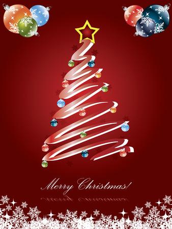 Christmas tree card  Stock Vector - 6655704