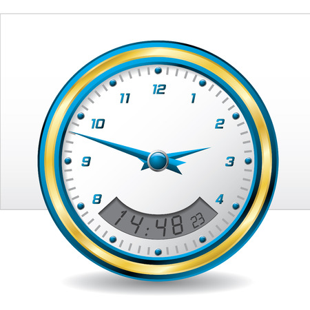Analog and digital wall clock Stock Vector - 6688179