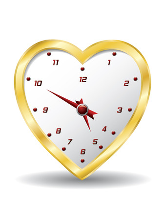 Heart clock Vector