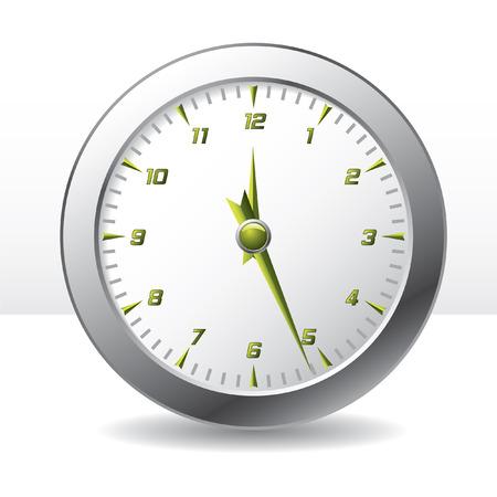 Analog wall clock Stock Vector - 6688171