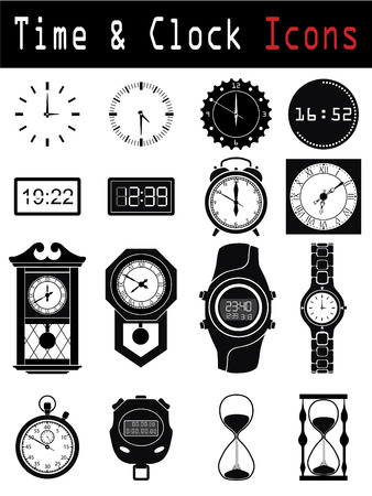 Clock silhouette  Stock Vector - 6688190