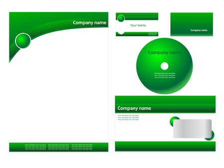 notepaper: Green corporate identity  Illustration