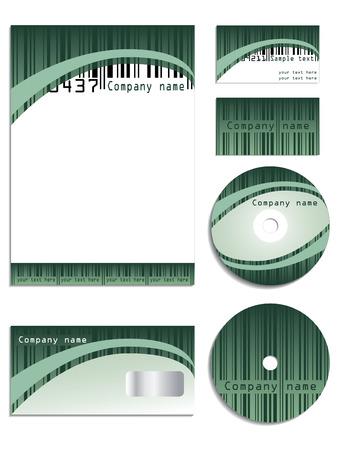 coded: Bar coded company Illustration