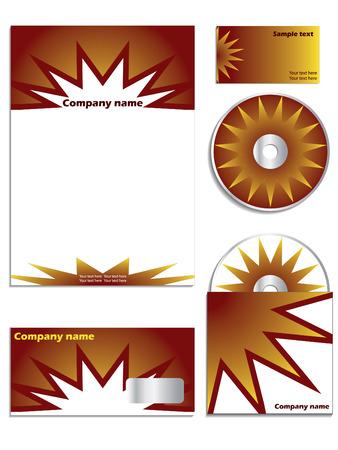 Orange company vector set Stock Vector - 6655756