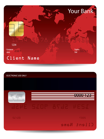 Red credit card Stock Vector - 6655750