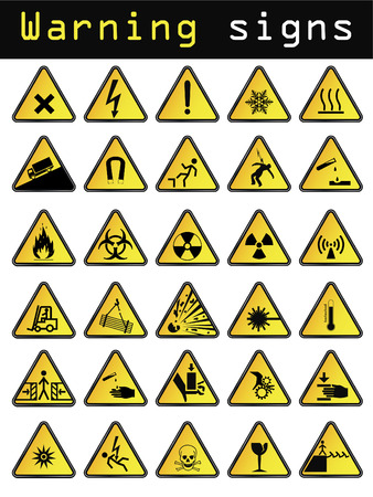 flammable warning: Vector warning signs