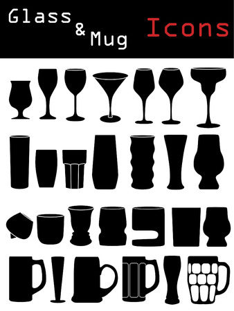 Glass & Mug Icons  Vector