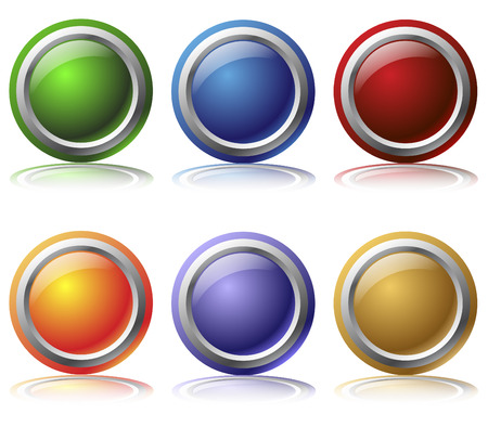 Glossy web buttons Stock Vector - 6688277
