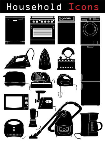 microwave ovens: Household icons