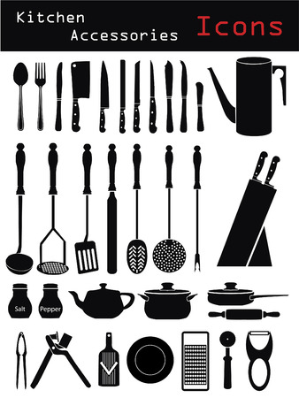 skillet: Kitchen Accessories Illustration