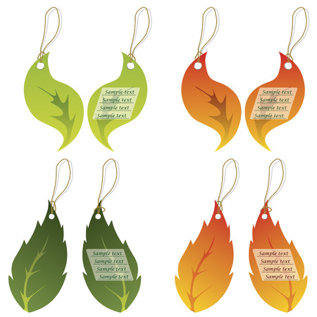 Colored leaf labels Stock Vector - 6688199