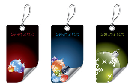 Christmas dark labels Vector