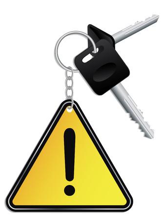 keyholder: Keys and warning keyholder