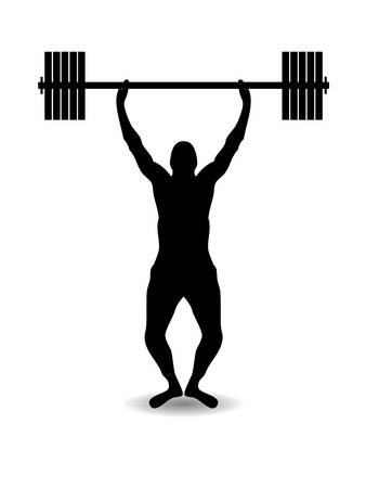 leg muscle: Silueta de levantamiento de peso  Vectores