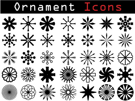 Decorative icons Stock Vector - 6688226