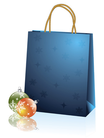 resale: Blue christmas bag