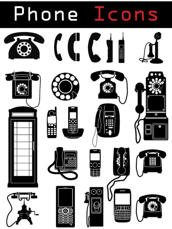 Phone Icons Stock Vector - 6716828