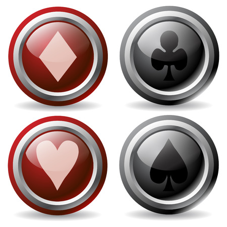 Poker Buttons Stock Vector - 6716810