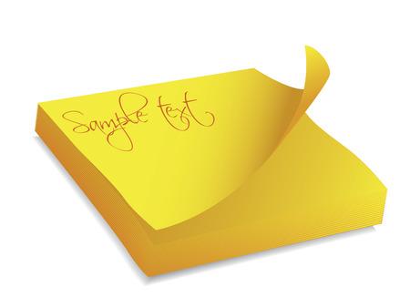 Yellow note block Stock Vector - 6716807