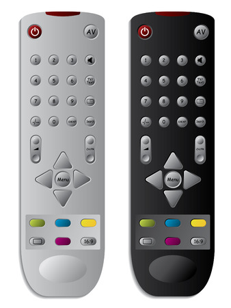 remote controls: TV remote controls Illustration
