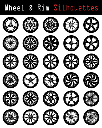 car tuning: Wheel & Rim silhouettes