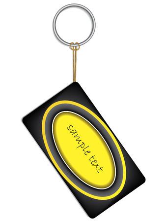 keyholder: Label on keyholder Illustration