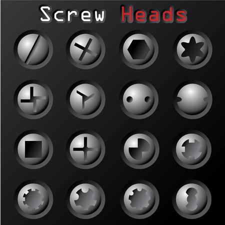 Screw Heads Vector