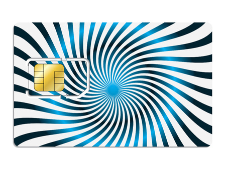 Twirling sim card Vector