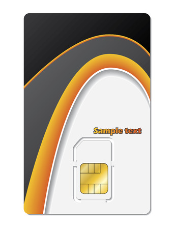 roaming: Sim card Illustration