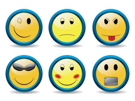 New set of smileys Vector