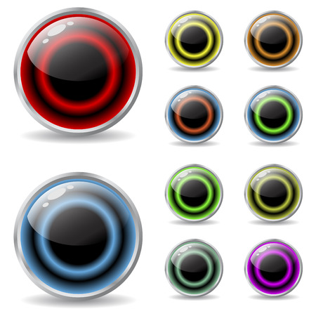 cool colors: Web buttons with cool colors Illustration