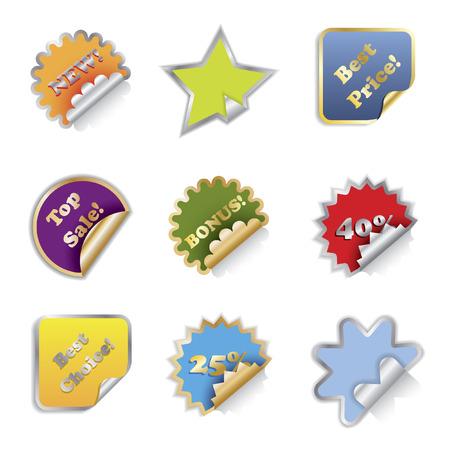 Shiny Stickers Stock Vector - 6688319