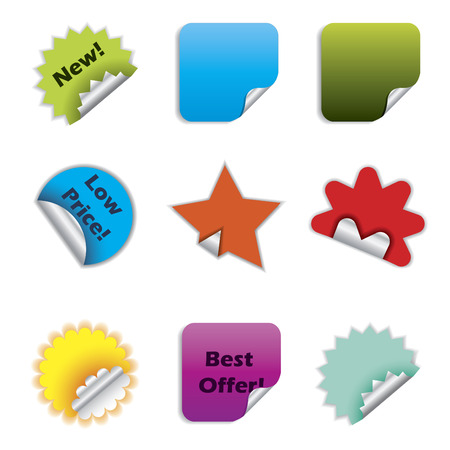 Various color stickers Stock Vector - 6688329
