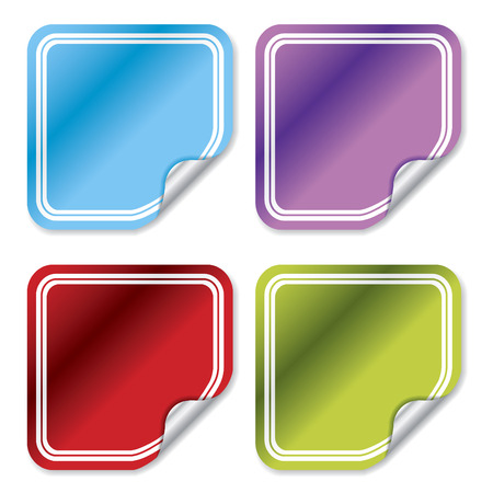 Blank color stickers Stock Vector - 6688323