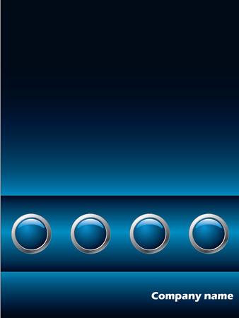 Blue company brochure Stock Vector - 6688289