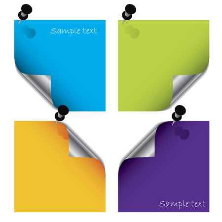 Colorful post its Stock Vector - 6716896