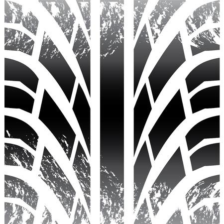 dirt texture: Pneumatico close-up  Vettoriali